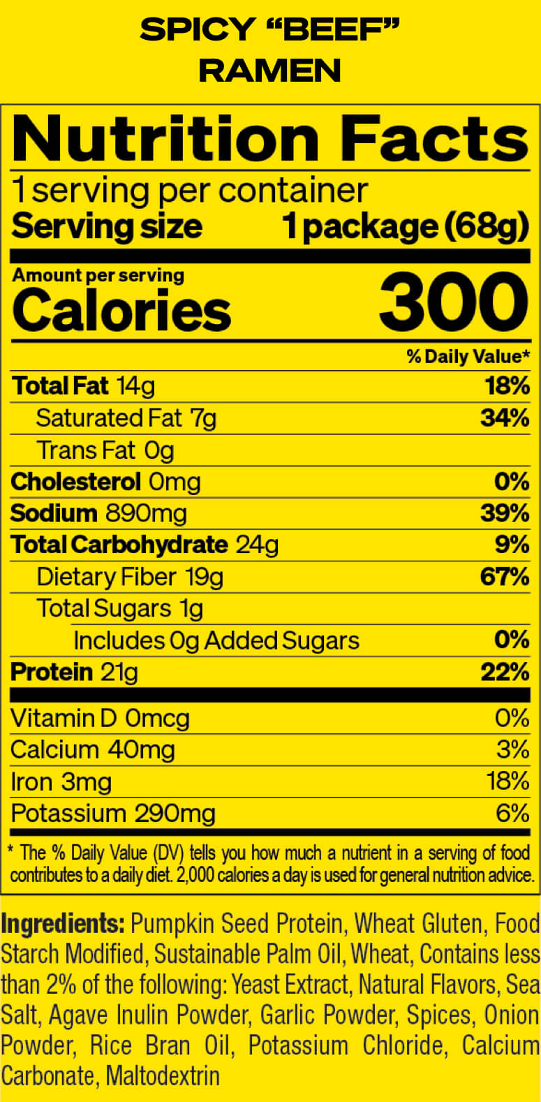 Spicy Beef Nutrition Facts